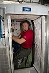 ISS-51 Jack Fischer inhabits his personal sleep station inside the Harmony module.jpg