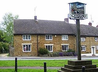 Chipping Warden village in United Kingdom