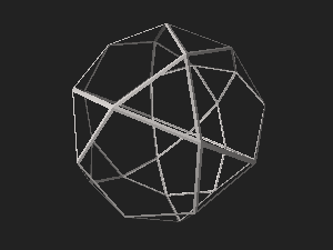 Icosidodecahedron wireframe.stl