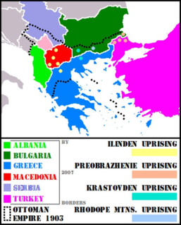 Ilinden–Preobrazhenie Uprising revolt against the Ottoman Empire in Southeastern Europe 1903