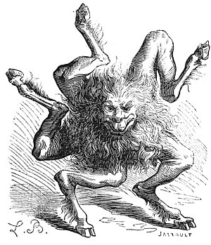 "Buer (demon) - Buer, the 10th spirit, who teaches ""Moral and Natural Philosophy"". Illustration by Louis Breton from Dictionnaire Infernal"