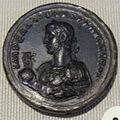Impero, gallieno, medaglione di bronzo (roma), 257-258.JPG