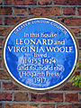 In this house LEONARD and VIRGINIA WOOLF lived 1915-1924 and founded the Hogarth Press 1917.jpg