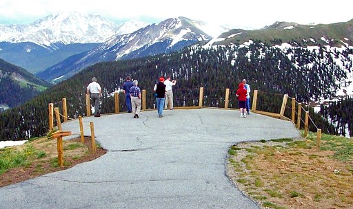 Independence Pass scenic overlook