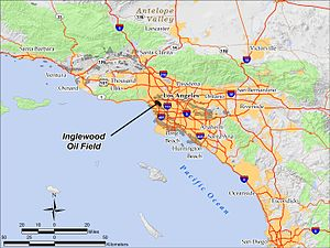 Inglewood Oil Field - Location of Inglewood Oil Field in southern California
