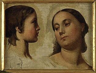 Madame de Lauréal and her son