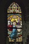 interieur kleine kapel, zuidertransept, glas in loodraam met maria-altaar - lith - 20334115 - rce