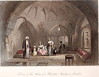 Interior of the house of a Christian family in Jerusalem. By <a mce_thref=