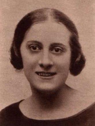 Irene Caba Alba - Irene Caba Alba in 1931