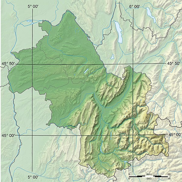 Fichier:Isère department relief location map.jpeg
