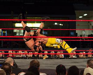 Taiji Ishimori - Ishimori performing a Death Valley driver on Roderick Strong