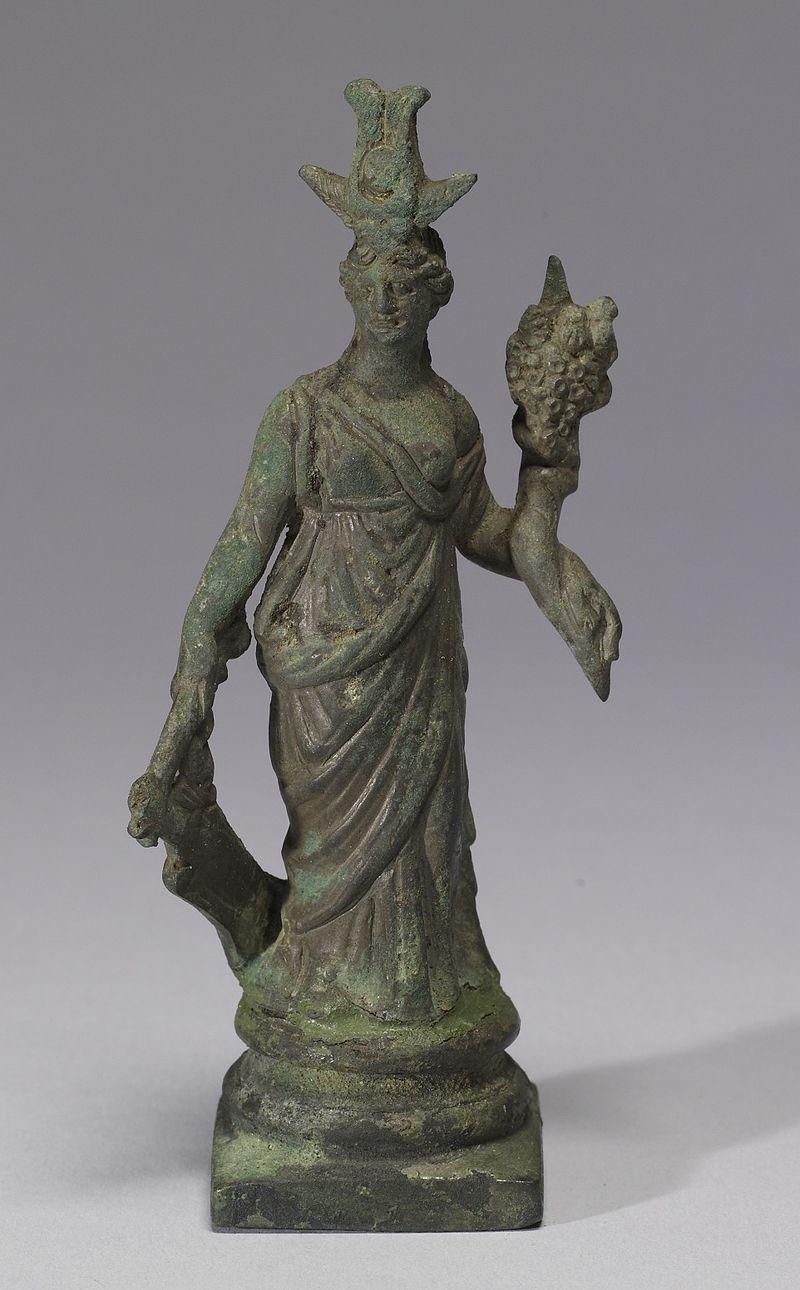 Metal figurine of a woman