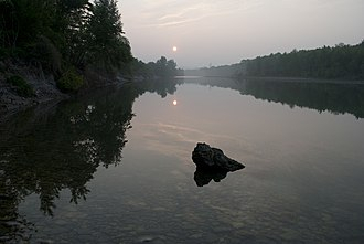 Soča - The Isonzo River in Italian region.