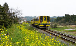 Isumi Railway train at Higashi-Fusamoto.jpg