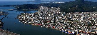 Itajaí - Port of Itajaí from the sky