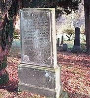 Jüdischer Friedhof Schwelm - Grabstein Aron Anschel.jpg