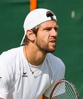 Jürgen Melzer - Image: Jürgen Melzer, 2015 Wimbledon Qualifying Diliff