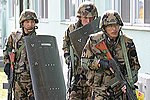 JASDF airmen Miho AB defense drill.jpg
