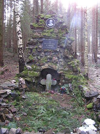 Jakub Jan Ryba - J. J. Ryba's monument near Voltuš