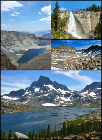 John Muir Trail - Image: JMT collage