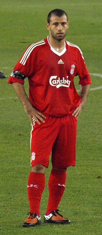Javier Mascherano - Mascherano playing for Liverpool in 2010.