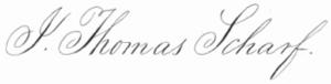 John Thomas Scharf - Image: J Thomas Scharf Signature