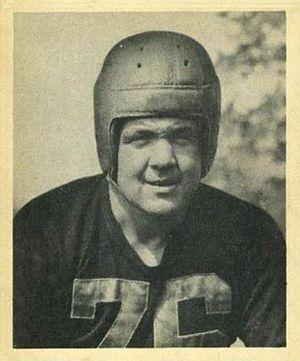 John F. Wiley - Wiley on a 1948 Bowman football card