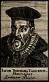 Jacobus Theodorus Tabernaemontanus. Line engraving, 1688. Wellcome V0005711.jpg