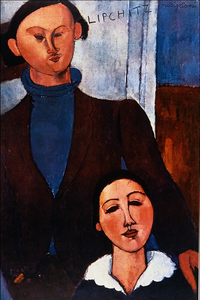 Jacques Lipchitz and his Wife - Amedeo Modigliani.png