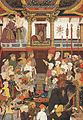 Jahangir receives Prince Khurram on his return from the Deccan (10 October 1617).jpg
