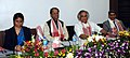 Jairam Ramesh at a review meeting on PMGSY, in Assam on December 01, 2012. The Chief Minister of Assam, Shri Tarun Gogoi and the PWD Minister of Assam Smt. Ajanta Neog are also seen.jpg