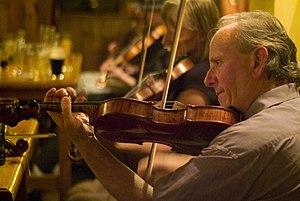 Donegal fiddle tradition - James Byrne – Glencolumbkille 2 August 2007   Photo: Rik Walton