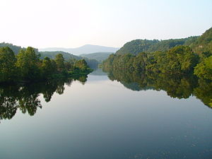 James River - James River at the crossing of the Blue Ridge Parkway