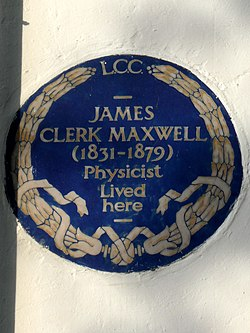 James clerk maxwell (1831 1879) physicist lived here