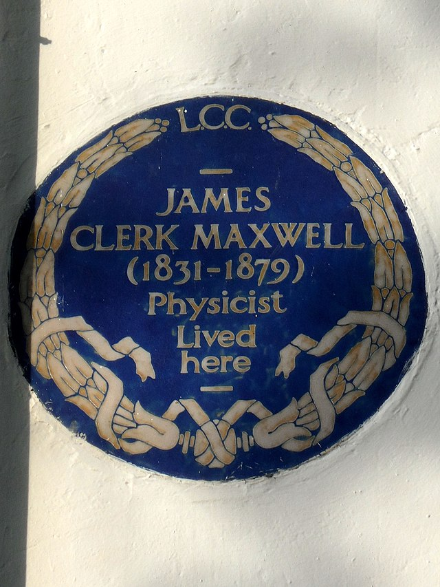 Photo of James Clerk Maxwell blue plaque