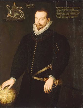 James Lancaster commanded the first East India Company voyage in 1601 Jameslancaster.jpg