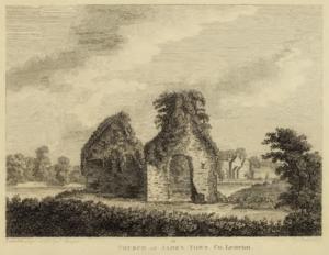 Jamestown, County Leitrim - Ruins of Jamestown Friary, 1791