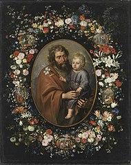 Blumenkranz mit hl. Joseph (Werkstatt)
