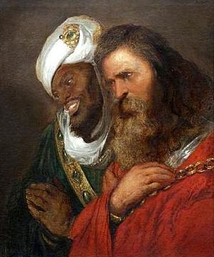 House of Lusignan - Guy de Lusignan and Saladin. Saladin en Guy de Lusignan, 1625 painting by Jan Lievens.