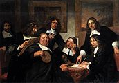Jan de Bray - The Governors of the Guild of St Luke, Haarlem - WGA03124.jpg