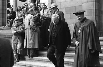 Reinhold Maier - Sigurd Janssen and Reinhold Maier, Freiburg University 1952