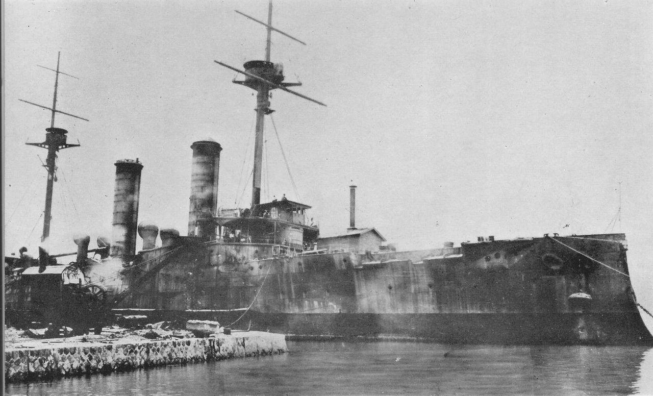 "Крейсер ""Асама"" (Asama) в 1898 году"