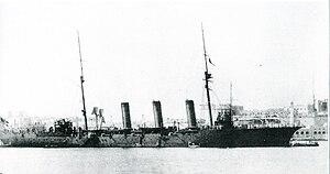 Japanese cruiser Tone (1907) - Image: Japanese cruiser Tone in 1911