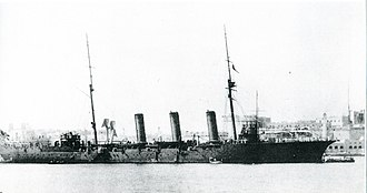 Japanese cruiser Tone (1907) - Image: Japanese cruiser Tone in 1911