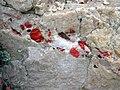 Jasper pebbles in quartzite (Lorrain Formation, Paleoproterozoic, ~2.3 Ga; Ottertail Lake Northeast roadcut, near Bruce Mines, Ontario, Canada) 7 (47708995641).jpg
