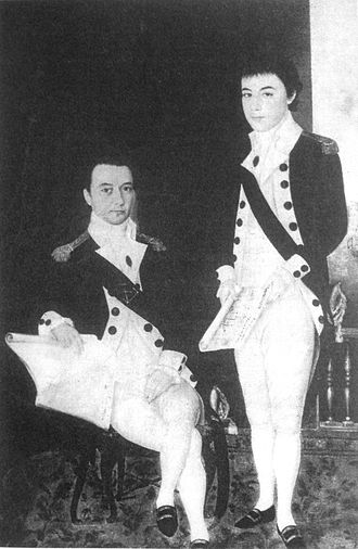 Gia Long - Jean-Marie Dayot (left) took a leading role in the training of Gia Long's navy.