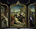 Jean Bellegambe - Triptych, Central section, Mourning (Matthew 27-59-61, Mark 15-46-47, Luke 23-53-56, John 19-38-42), - M.Ob.15 - National Museum in Warsaw.jpg