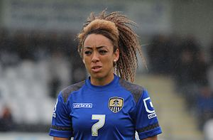 Jessica Clarke - Playing for Notts County in July 2015