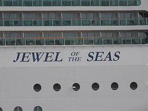 Jewel of the Seas Name Tallinn 19 May 2012.JPG