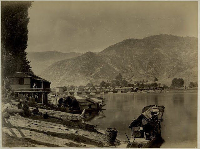 Jhelum river, Baramullah, Kashmir, 1880s